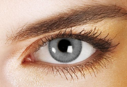 Prescription Coloured Contacts White Grey Right Eye - 90 Day